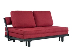Basilica Convertible Euro Sofa - Red