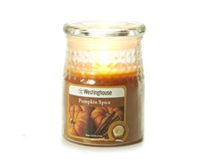 3 LED Wax Jar Flameless Candle Orange 3.5x5