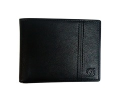 S.T. Dupont Leather Wallet - 6CC, Black