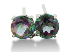 2ct Rainbow Amethyst Earrings In Sterling Silver