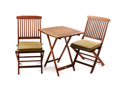 Square Bistro Set - Beige