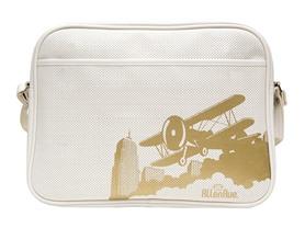 White Vintage Biplane Diaper Bag