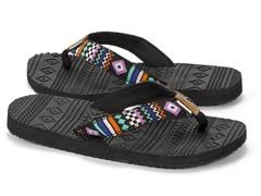 MUK LUKS® Women's Flip Flops,Checker Zig