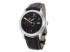 Men's Bressel Black Dial Black Alligator