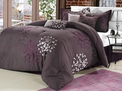Cheila 8Pc Set - Plum-2 Sizes