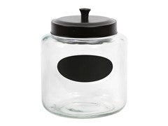Glass Chalkboard Crock
