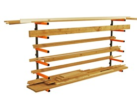 HTC PBR-001 Wood Storage Organizer Rack