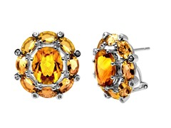 SS Citrine Earrings w/ Omega Backs