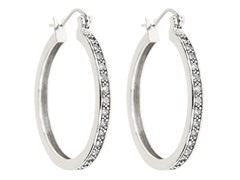 18kt White Gold Plated Hoop Earrings