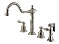 Kitchen Faucet with Sprayer, Nickel