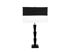 "ORE 26"" Black Crystal Table Lamp -2 Tone"