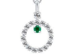 Emerald & White Topaz Pendant