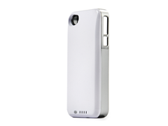 DX+ iPhone4/4S Battery Case-White/Silver