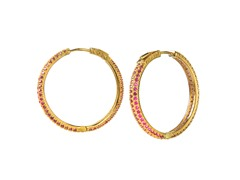 18k Plated 25mm Hoops