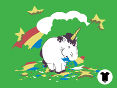 Fat Unicorn Infant One-Piece