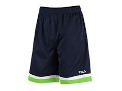 Workout Training Shorts, Navy/Lime (S)