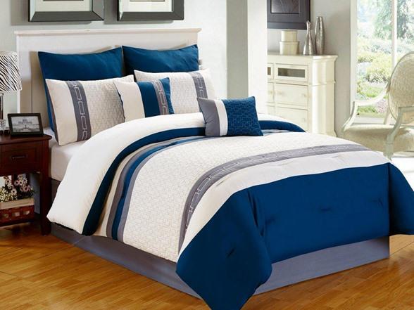 King Calloway 8pc Comforter Set 4 Colors