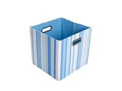 Sky Stripes Canvas Folding Storage Bin