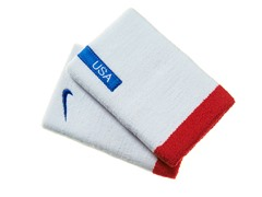 Doublewide Wristbands - Red/White/Blue