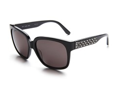 Black Sunglasses w/ Studs and Grey Lens