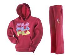 Girls Fleece Set - Logo, Hot Pink (4-6X)