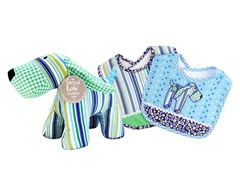 Apple Berry Bib & Buddy Set