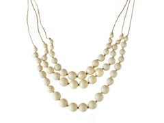 Relic Cream Bead Necklace