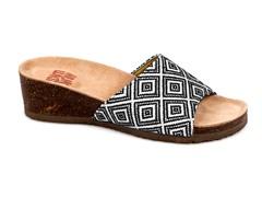 Lea Slide Wedge Sandal, Black