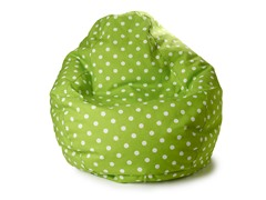 Junior Teardrop Beanbag - Lime Dot