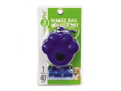 Clean Go Pet Pawprint Waste Bag Holder 2-Pack - Navy
