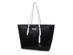 "15"" East West Laptop Tote - Black/White"