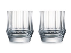 Central Park 10oz Double Old Fashion Glass, Set Of 2