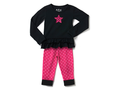Fuchsia Star Legging Set