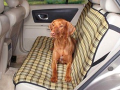 Guardian Gear Plaid Car Seat Cover - Tan