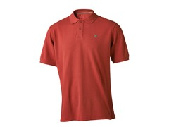 Men's Logo Polo - Pomegranate