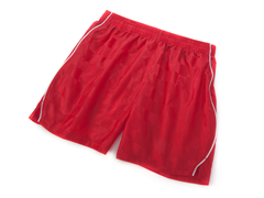 Solid Red Shorts with Piping