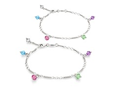 Multi-Color Bracelet & Anklet Set