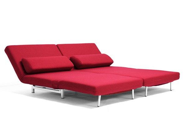 Amiens Convertible Split Back Sofa Red