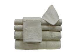 6Pc Towel Set-Ivory