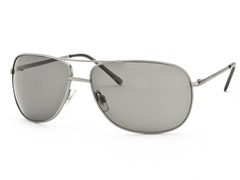 Silver/Gray Aviator 22 Sunglasses
