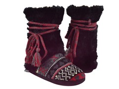MUK LUKS® Fur Wrap Boot-Ladies