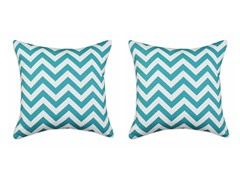 Zig Zag Turquoise 17X17 Pillows S/2