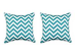 Zig Zag Turquoise 17X17 Pillows S/2