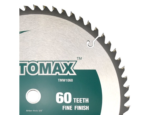 TOMAX 10-Inch 80 Tooth ATB Fine Finish Saw Blade with 5//8-Inch Arbor