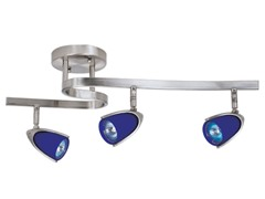 3-Light Satin Waverail Kit, Blue