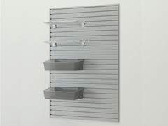 Shelf and Jumbo Hard Bin Combo, Silver