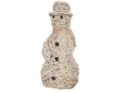 """21"""" White Champagne Sparkle Vine Snowman"""
