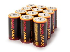 Kodak MAX D Alkaline Batteries - 12 Pack