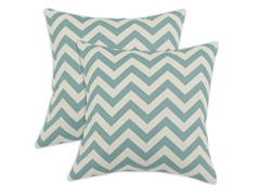 Zig Zag 17x17 Pillows - Village Blue - Set of 2