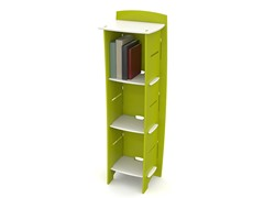 Lime & White 3-Shelf Bookcase